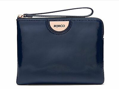 AU52.95 • Buy Mimco ECHO MEDIUM POUCH TWILIGHT Leather Authentic New With Tag RRP99.95