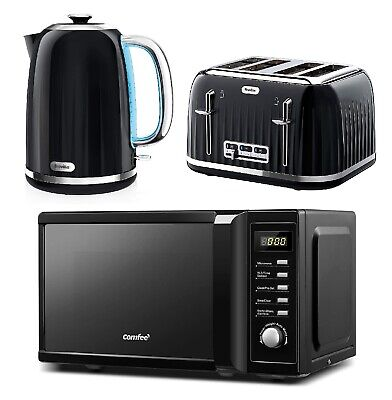 £179.99 • Buy Black Microwave Oven COMFEE' & 4-Slice Toaster And Electric Kettle Breville NEW
