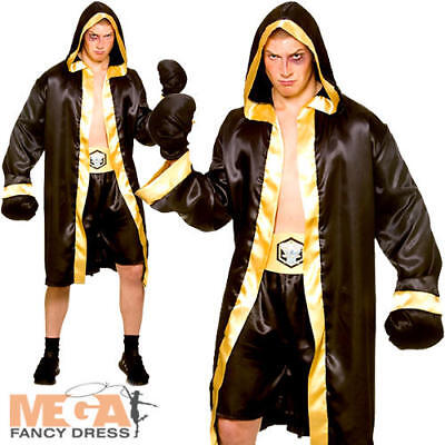 Champion Boxer Mens Fancy Dress Wrestler Boxing Sport Olympic Adults Costume New • 18.99£