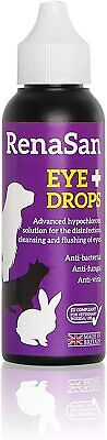 Eye Drops 60ml Dogs Cats Small Large Pets Reptiles Poultry Avian & Farm New.. • 9.98£