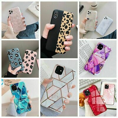 Glitter Marble Case For Iphone 11 12 Pro Max 7 8Plus XR Leopard Print Thin Cover • 3.49£