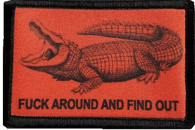 $7.99 • Buy Crocodile F#$k Around And Find Out Morale Patch Military Tactical Army Flag USA