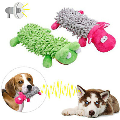 Pets Funny Soft Pet Puppy Chew Playing Squeaker Squeaky Plush Sound Dog Toys • 2.54£