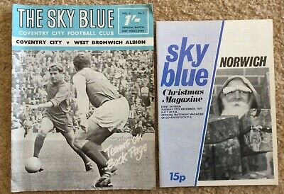 Coventry City 2 X Programmes 67-68 West Brom Div 1 77-78 Norwich Div 1 • 1.99£