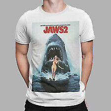 Jaws 2 T-shirt -  Movie Poster 70s 80s Shark Movie Film Retro Yolo Gift Tv • 6.99£