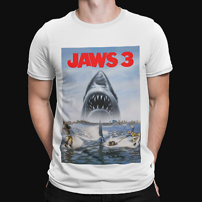 Jaws 3 T-shirt -  Movie Poster 70s 80s Shark Movie Film Retro Yolo Gift Tv • 4.99£