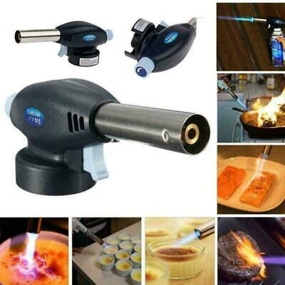BBQ Camping Blow Torch Butane Flame Burner Welding Auto Ignition Blowtorch Irons • 5.98£