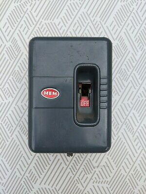 OLD MEM Main Switch With Fuse Carrier & Fuse Memera 30A • 14.50£