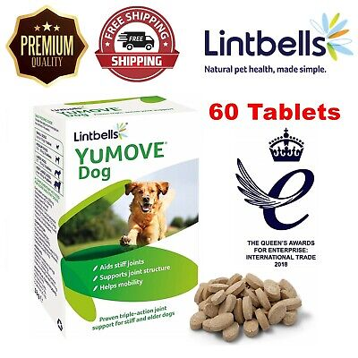 Lintbells YOUMOVE Dog Mobility Health Supplement Aid For Stiff Old Dogs 60 Tabs • 18.99£
