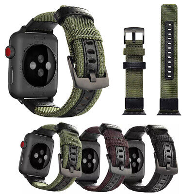 AU8.99 • Buy Canvas Nylon Band Strap For Apple Watch Series 6 5 4 3 SE IWatch 38/42/40/44mm