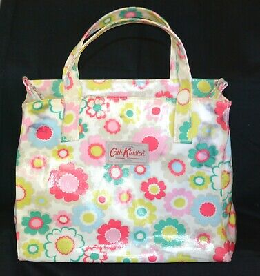 £15 • Buy Cath Kidston Floral Hand Bag Square Shopper Holdall Style Zip Fasten Pink Green