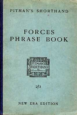 £20 • Buy Pitman, Isaac FORCES PHRASE BOOK CONTAINING SHORTHAND FORMS FOR WORDS AND PHRASE