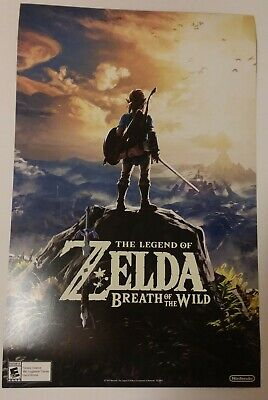 $13 • Buy 11x17 Zelda Breath Of The Wild Double Sided Poster Promo Poster From Gamestop