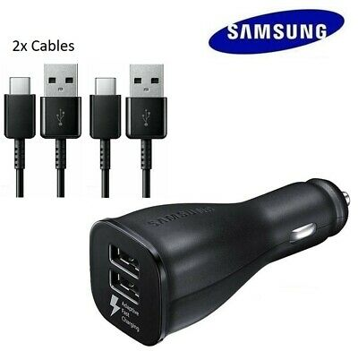$ CDN15.51 • Buy Original Samsung Galaxy S10+ S20 Note10 Adaptive Fast Car Charger+2 Type C Cable