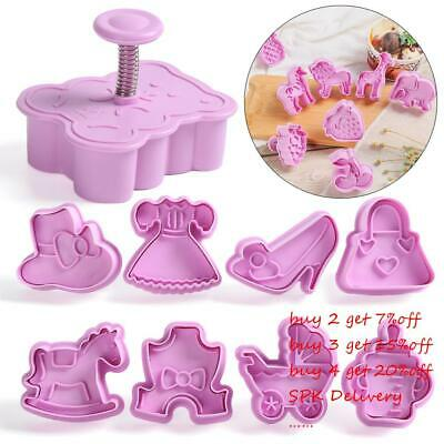 £3.56 • Buy Plunger 3D Press Mould Biscuit Mold Christmas Parent-child Cookie Cutter