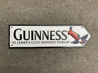 Cast Iron Guinness Dublin Flying Toucan Sign Wall Plaque Hand Painted Guiness • 15£