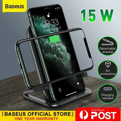 AU25.19 • Buy Baseus 15W Qi Wireless Fast Charger Charging Pad Holder For Samsung IPhone 11 XS