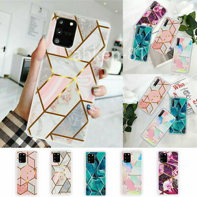 Geometric Marble Case Soft Silicone Cover For Samsung Note 20 Ultra S20 FE A21S • 3.95£