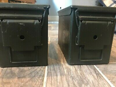 $30 • Buy MILITARY 50 Cal Ammo Can M2A1 Green Ammunition Tin Box (Set Of 2)