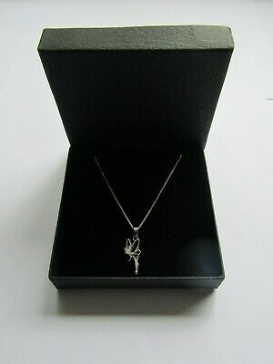 New Disney Tinkerbell Necklace - Sterling Silver Pendant In Gift Box • 28.95£