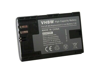 BATTERY + CHIP For CANON LP-E6 LPE6 LPE-6 ACCU • 10£