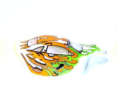 81342 Off Road Nitro RC R/C 1/8 Scale Buggy Body Shell Cover Orange Green HSP • 17.09£