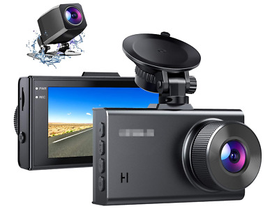 AU82.65 • Buy D2 2.5K Dual Dash Cam, 1440P&1080P Front And Rear Camera For Cars 170 Degree Dri