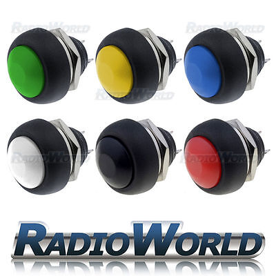 £3.95 • Buy 12V OFF (ON) Momentary Push Button Horn Switch Car Light Dashboard Boat SPST