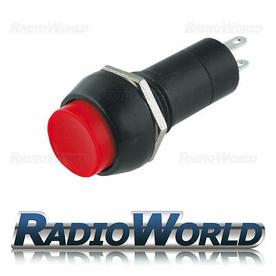 12v Push Button Switch Locking Latching ON - OFF SPST Car Dash Light Red • 2.39£