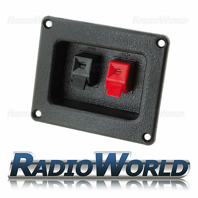 £3.95 • Buy Sub / Speaker Box Terminal / Binding Post / Square Cup Spring Clip Connector