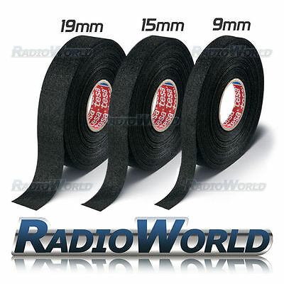 15m Roll Of Tesa Adhesive Cloth Fabric Wiring Harness Loom Tape Cable 9,15,19,25 • 2.89£