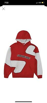 $ CDN260 • Buy Supreme S Logo Hoodie Size Large Red DS 100% Authentic With Proof Of Purchase