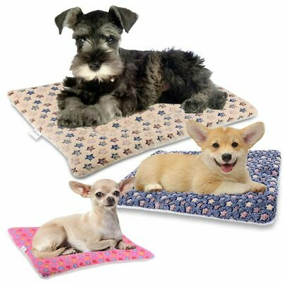 £17.98 • Buy Pet Bed For Dog Cat Crate Mat Soft Warm Pad Liner Home Indoor Outdoor Cute Print