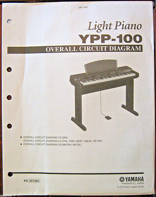 AU35.36 • Buy Yamaha YPP-100 Electronic Digital Piano Original Overall Circuit Diagram Sheets