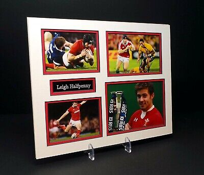 £69.99 • Buy Leigh HALFPENNY Signed Mounted Photo Display 1 AFTAL RD COA Wales Welsh Rugby