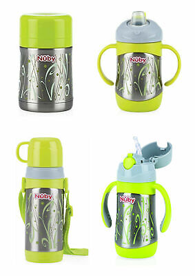 £10.99 • Buy Nuby Insulated Stainless Steel Thermos Flask Cup Childrens Baby Milk Bottles