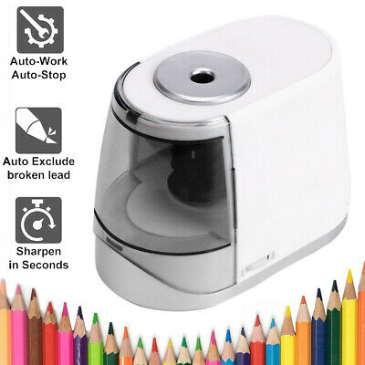 £19.79 • Buy Electric Automatic Pencil Sharpener Stationery 6-8mm Diameter USB/Battery Gifts