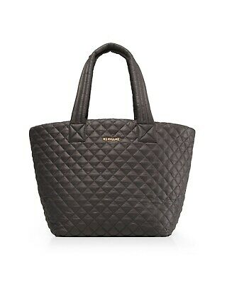 AU234.65 • Buy MZ Wallace Quilted Medium Metro Tote & Pouch, Magnet Grey NWT