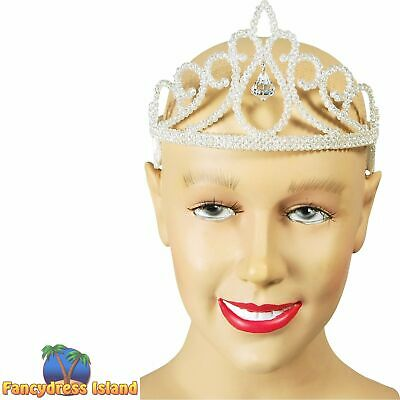 FAIRYTALE GLITTER DIAMOND TIARA - Womens Ladies Fancy Dress Accessory • 4.99£