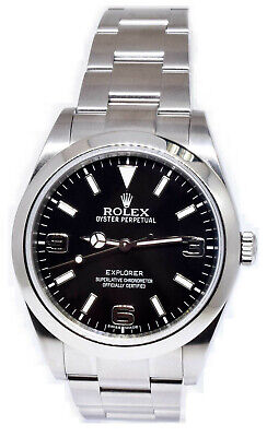 $ CDN9319.31 • Buy Rolex Explorer Stainless Steel Black Dial Mens 39mm Watch / Box 214270