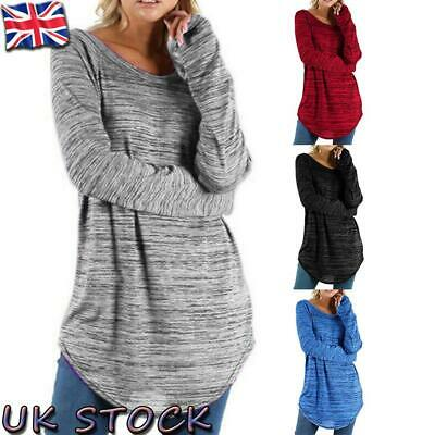 Womens Long Sleeve Baggy T-Shirt Ladies Loose Blouse Tops Tunic Casual Plus Size • 11.93£