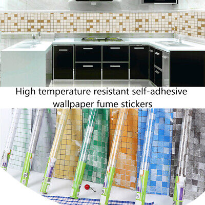 Mosaic Stick On Self Adhesive Wall Tile Sticker Anti Oil For Kitchen Bathroom! • 5.49£