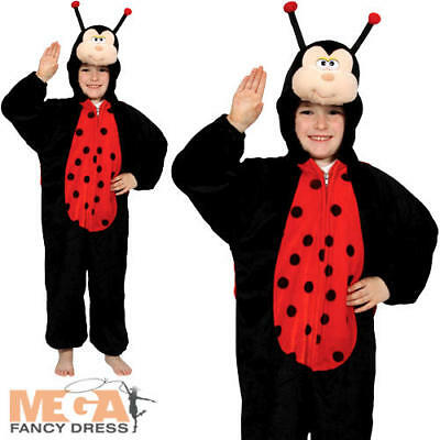 Kid's Ladybug Insect Fancy Dress Bug Ladybird Boys Girls Childs Costume Outfit • 12.99£