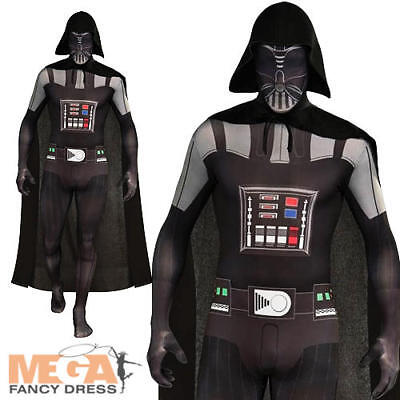 Star Wars Darth Vader 2nd Skin Mens Fancy Dress Lycra Bodysuit Adults Costume • 29.99£