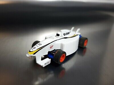 Micro Scalextric Jenson Buttons Brawn F1 White Working 1:64  Free Postage • 10£
