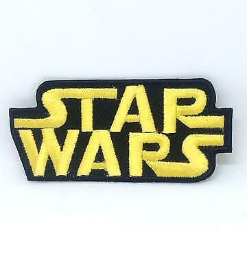STAR WARS Movies Iron Or Sew On Embroidered Patches - STAR WARS CLASSIC LOGO • 1.95£