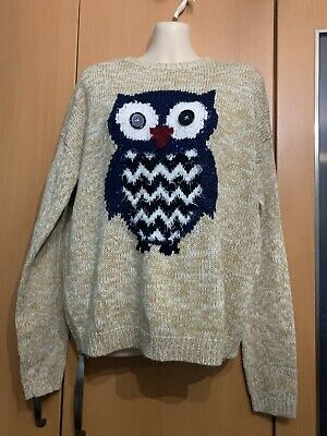 Girls New Look 915 Generation Christmas Owl Jumper Size 14-15 • 5.99£