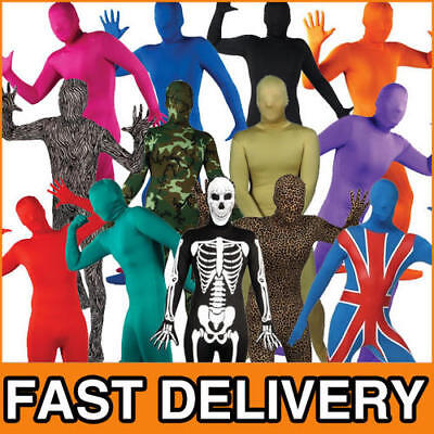 Bodysuit Skinz Fancy Dress Skin Lycra Body Suit Mens Adult Halloween Costume • 13.99£
