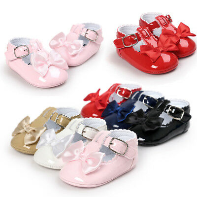 Newborn Baby Girl Bling Crib Pram Shoes Soft Sole Sneakers Walkers 0-18M Gift • 6.91£