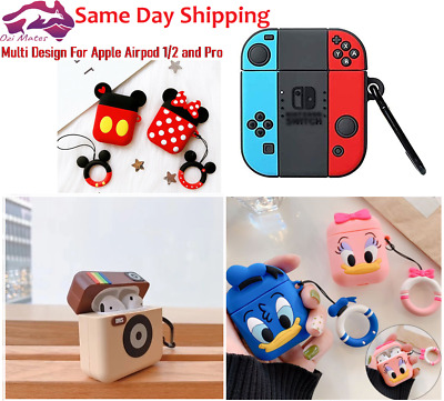 AU9.99 • Buy For Apple AirPods 1/2 And Pro Case Cover Silicone Keychain Multi Desgins